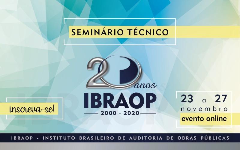 Capa de notícia: Evento online Instituto Brasileiro de Auditoria de Obras Públicas